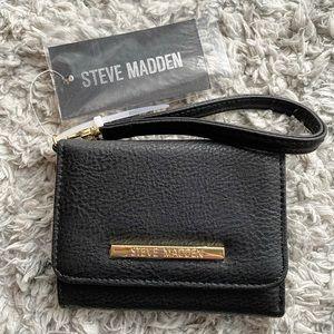 New Steve Madden black wristlet wallet